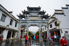 The tourists in Jiangwan Royalty Free Stock Photo