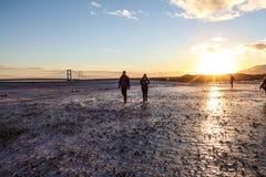 Tourists at Jokulsarlon lagoon, Iceland Stock Image