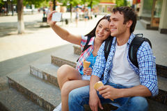 Tourists on journey Royalty Free Stock Images