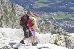 Tourists  in the Julian Alps Stock Photography