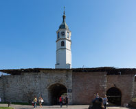 Tourists in the Kalemegdan fortress in Belgrade Stock Images