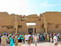 Tourists in Karnak Temple Stock Photos