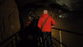 Tourists in Karst Cave stock video
