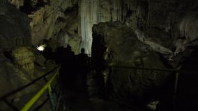 Tourists in Karst Cave stock footage