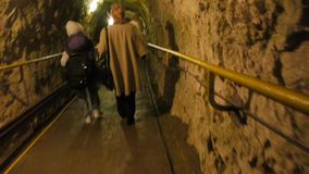 Tourists in Karst Cave stock video footage