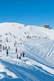 Tourists on Kasprowy Peak. Tourists on Kasprowy Peak in winter Royalty Free Stock Photos