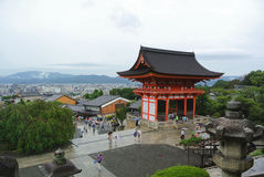 Tourists at Kiyomizu Temple Stock Photos