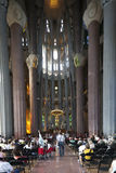 Tourists in La Sagrada Familia Royalty Free Stock Photography