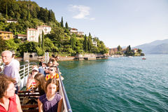 Tourists, Lake Como Royalty Free Stock Image