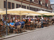 Tourists in Leipzig Germany Royalty Free Stock Photo