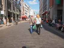 Tourists in Leipzig Germany Stock Image