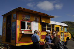Tourists life on maui island Royalty Free Stock Photo