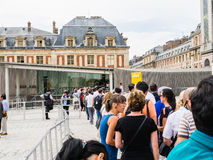 Tourists line up for admission to Versailles Palace, France Stock Photos