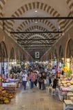 Tourists and local people visit  Alipaşa bazaar Stock Photography