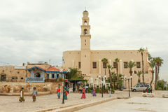 Tourists and locals at Jaffa old city Royalty Free Stock Image