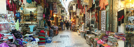 Tourists and locals at Jerusalem's old city market Stock Photography