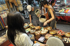 Tourists and Locals Shop at Chatuchak Market Stock Photography