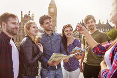 Tourists in London Royalty Free Stock Photo
