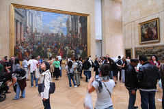 Tourists in Louvre Royalty Free Stock Photography