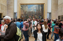 Tourists at the Louvre Museum Stock Photography