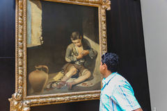 Tourists at Louvre, Paris Stock Photos