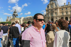 Tourists in the Louvre - Paris Royalty Free Stock Photography
