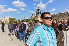 Tourists in the Louvre - Paris Royalty Free Stock Images