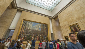 Tourists in Louvre Stock Images