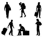Tourists with luggage Stock Photography