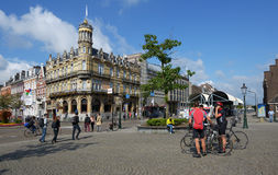 Tourists in Maastricht, Netherlands Stock Image