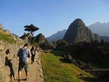 Tourists in Machu Picchu, Peru. Stock Image