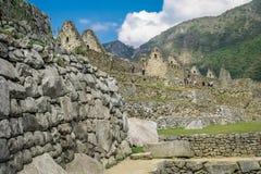 Tourists in Machu Picchu Stock Photo