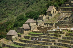Tourists in Machu Picchu Stock Image