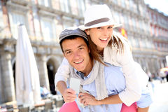 Tourists in Madrid Stock Image