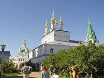 Tourists in Makaryevsky Monastery, Russia Stock Images