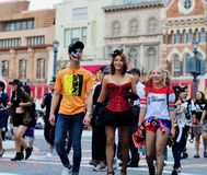 Tourists are Make up for halloween party universal studio japan Royalty Free Stock Photo