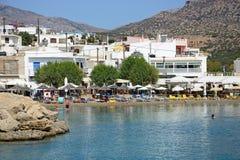 Tourists on Makrigialos beach, Crete. Stock Image