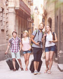 Tourists with map and camera Royalty Free Stock Image