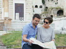 Tourists map italy Royalty Free Stock Photography
