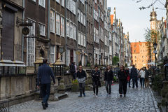 Tourists in Mariacka Street Royalty Free Stock Photography