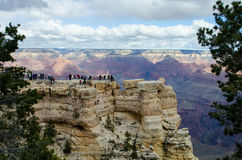 Tourists at Mather Point, Grand Canyon Stock Photo