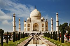 Tourists at a mausoleum, Taj Mahal, Agra, Uttar Pradesh, India Royalty Free Stock Images