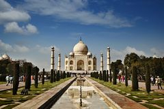 Tourists at a mausoleum, Taj Mahal, Agra, Uttar Pradesh, India Stock Photos