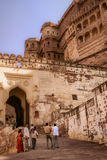 Tourists at the Meherangarh Fort Stock Images