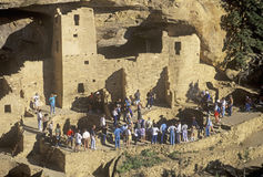 Tourists at Mesa Verde National Park, Royalty Free Stock Photo