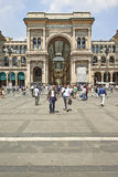 Tourists at Milan Cathedral Square Stock Images