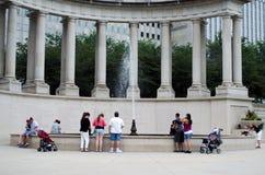 Tourists at millennium park royalty free stock photo