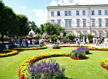 Tourists in the Mirabell Garden Stock Image