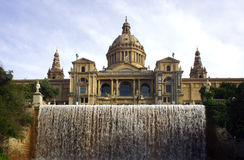 Tourists at the MNAC in Barcelona Stock Image