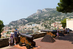 Tourists in Monaco Stock Photography